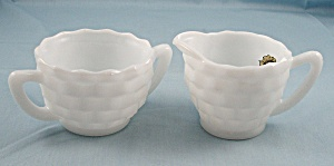 Hazel Atlas - Opaque - Early American - Creamer & Sugar