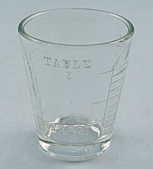 Small, One Ounce Crystal Measuring Glass/Tumbler (Image1)