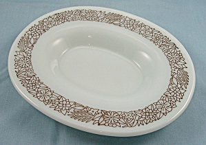 Pyrex – Woodland Brown – Under Plate For Gravy Boat/ Bowl (Image1)