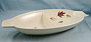 Franciscan -indian Summer Leaves - Autumn Pattern- Divided Bowl