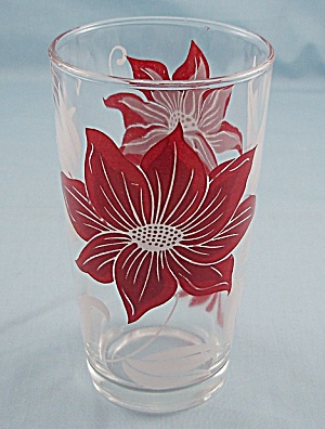 Tumbler - Red & White Floral
