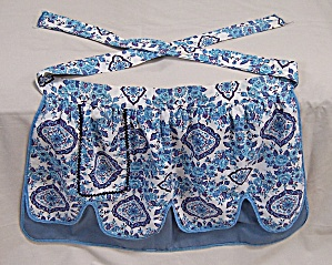 Vintage Apron, Reversible, Blues
