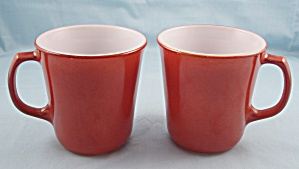 Two Pyrex Mugs -cinnamon