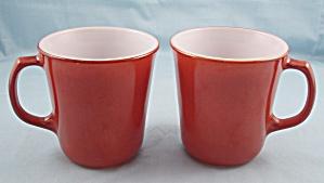 Two Pyrex Mugs –Cinnamon (Image1)