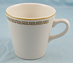 Homer Laughlin - Greek Key, Gold Band- Cup/mug