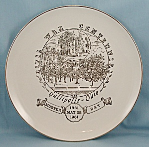 Gallipolis, 1861- 1961, Civil War Centennial Plate