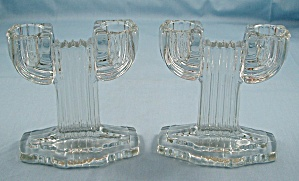 Queen Mary, Two Light Candle Pair - Anchor Hocking