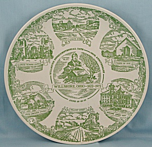 Wilshire, Ohio - Sesquicentennial, 1822-1972 - Collector Plate