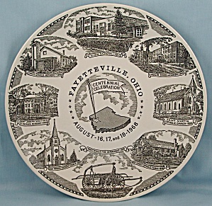 Fayetteville, Ohio/ Centennial, 1968 - Collector Plate