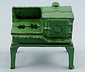 Kilgore � Cast iron � Dollhouse Furniture � No. T.-7 � Green Toy Gas Stove (Image1)