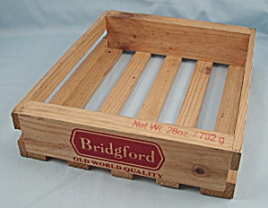 Bridgford - Old World Quality - Wooden Decorative Crate