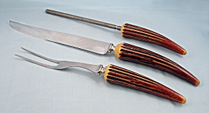 Crown Crest /Sheffield / Antler Shaped Knife & Carving Set (Image1)