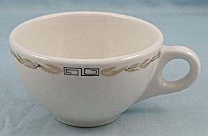 Syracuse – Coffee Cup – Restaurant Ware – Greek Key, Gold Laurel (Image1)