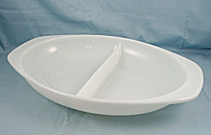 Pyrex - Divided Bowl - White 1-1/2 Quart