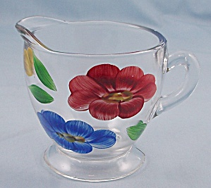 Hand Painted Crystal Creamer