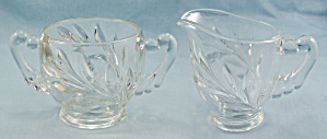 Indiana Glass - Willow - Crystal Creamer - Leaf