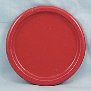 Columbian Enameled / Granite Ware Coaster � Terre Haute, Indiana � Red B (Image1)