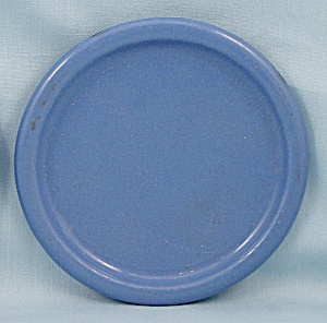 Columbian Enameled / Granite Ware Coaster - Terre Haute, Indiana - Blue A