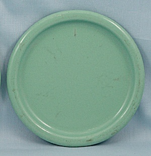 Columbian Enameled / Granite Ware Coaster - Terre Haute, Indiana - Green A