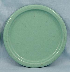 Columbian Enameled / Granite Ware Coaster – Terre Haute, Indiana – Green A (Image1)