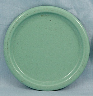 Columbian Enameled / Granite Ware Coaster – Terre Haute, Indiana – Green B (Image1)