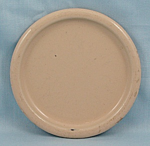 Columbian Enameled / Granite Ware Coaster – Terre Haute, Indiana – Cream (Image1)