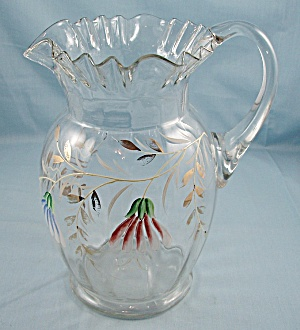 Victorian � Enameled Pitcher, Ruffled (Image1)