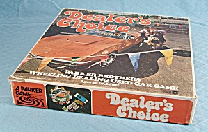 Dealer's Choice Game, Parker Brothers, 1972