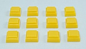 Can't Stop Game, Parker Brothers, 1980, 12 Replacement Yellow Squares  (Image1)