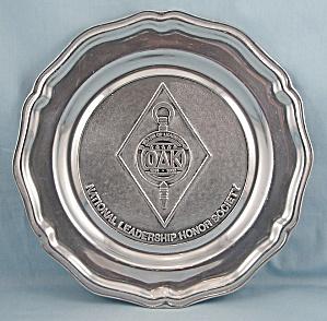 1989 OAK – Pewter Plate - Wilton Pewter – Mount Joy, PA. (Image1)