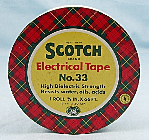 Tin – Scotch Electrical Tape, With  Pat. No's, No.33 (Image1)