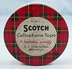 Tin � Scotch Cellophane Tape, With  Pat. No�s	 (Image1)