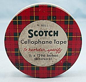 Tin – Scotch Cellophane Tape, With  Pat. No's (Image1)