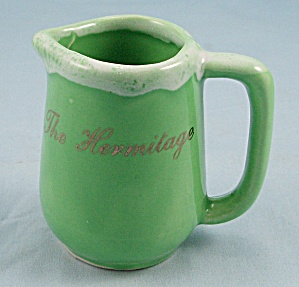 P. A. C. - Hermitage � Souvenir Pottery, Green Drip Pitcher (Image1)