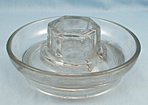 Vintage Poultry / Chicken, Glass Water Dish Base - No. 569
