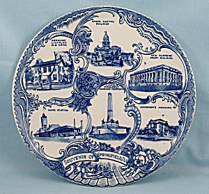 Staffordshire / Adams Potteries - Souvenir/ Collector Plate - Springfield, Ill