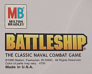 Battleship Classic Naval Combat Game Milton Bradley 1998 Contemporary Toys And Games 1995 To Current At Tipp Eclectics