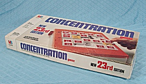 Concentration Game, 23rd Edition, Milton Bradley, 1979