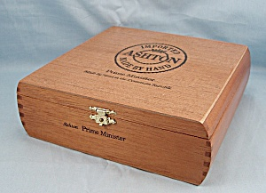 Wood Cigar Box, Ashton, Dominican Republic