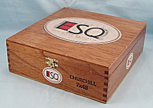 Wood Cigar Box – ESQ – Churchill (Image1)
