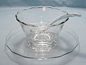 Matched Set Crystal Mayonnaise– Bowl, Underplate & Ladle (Image1)