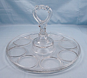 Greensburg Glass Caddy, Beverage Tray, Carrier - Holds Eight (Image1)