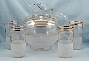 Glass Lemonade Set � Pitcher, 4 Matching Tumblers (Image1)