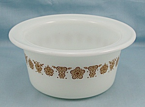 Pyrex -butterfly Gold - Margarine Dish, Butter Tub