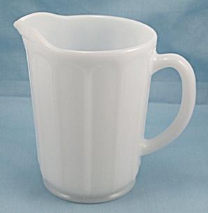 Hazel Atlas Milk Glass Pitcher - Platonite (Image1)