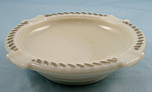 Wheaton - Custard Glass Ashtray - Gold Trim