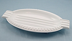 Oval Milk Glass Ashtray