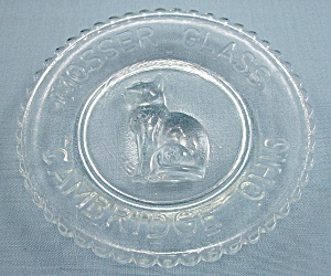 Advertising � Mosser Glass � Cat Plate	 (Image1)