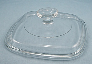 Pyrex A 7 C, Corning Glass, Lid – Crystal / Square, 6-1/2 Inch   (Image1)