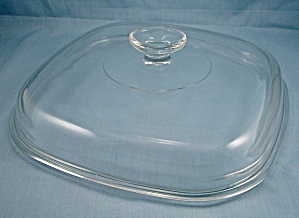 Pyrex, Corning Glass, Replacement Lid � Large 10-Inch/ Crystal/ Square (Image1)